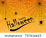 halloween vector background... | Shutterstock .eps vector #737616625