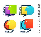 vector collection of talking ...   Shutterstock .eps vector #737621701