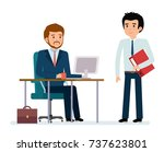 business people and situations. ... | Shutterstock .eps vector #737623801
