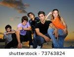 portrait of young hispanic... | Shutterstock . vector #73763824