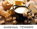 cheese fondue | Shutterstock . vector #737640694