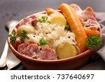 choucroute sauerkraut with... | Shutterstock . vector #737640697