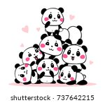 vector illustration of many... | Shutterstock .eps vector #737642215