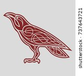 raven red celtics | Shutterstock .eps vector #737643721