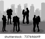 vector isolated silhouette... | Shutterstock .eps vector #737646649