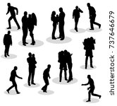 silhouette of people go | Shutterstock .eps vector #737646679