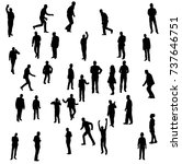 vector isolated silhouette of... | Shutterstock .eps vector #737646751