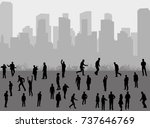 isolated silhouette people... | Shutterstock .eps vector #737646769