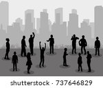 vector isolated silhouette... | Shutterstock .eps vector #737646829
