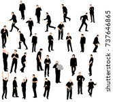 silhouette of men go | Shutterstock .eps vector #737646865