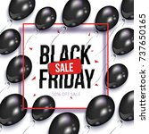 black friday square sale banner ... | Shutterstock .eps vector #737650165
