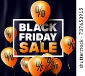 black friday sale poster by... | Shutterstock .eps vector #737653915