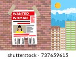 wanted person paper poster.... | Shutterstock .eps vector #737659615