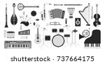 musical instruments isolated on ... | Shutterstock .eps vector #737664175