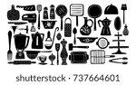 set of kitchenware and utensils ...   Shutterstock .eps vector #737664601