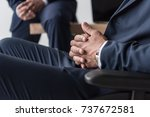 cropped shot of disabled... | Shutterstock . vector #737672581