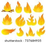 vector set of flame. a... | Shutterstock .eps vector #737684935
