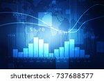 2d rendering stock market... | Shutterstock . vector #737688577