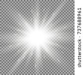sunlight with lens flare effect ... | Shutterstock .eps vector #737688961