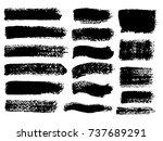 painted grunge stripes set....   Shutterstock .eps vector #737689291