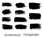 painted grunge stripes set.... | Shutterstock .eps vector #737689309