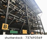 automated car parking system ... | Shutterstock . vector #737693569