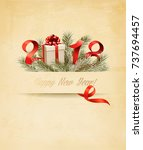 happy new year 2018 background... | Shutterstock .eps vector #737694457