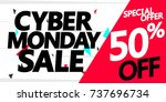 cyber monday sale  special... | Shutterstock .eps vector #737696734