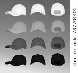 baseball cap. vector...   Shutterstock .eps vector #737704405