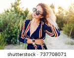 fashionable  image of amazing... | Shutterstock . vector #737708071