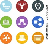 origami corner style icon set   ... | Shutterstock .eps vector #737710825