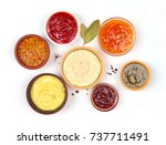 Sauces Set On A White Background