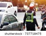 Traffic Policeman In Uniform  ...
