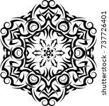tribal tattoo design vector art | Shutterstock .eps vector #737726401