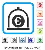 euro standard icon. flat gray...