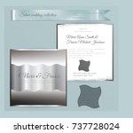 luxury wedding invitation... | Shutterstock .eps vector #737728024