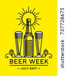 beer week emblem   vector... | Shutterstock .eps vector #737728675