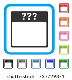 unknown calendar page icon.... | Shutterstock .eps vector #737729371