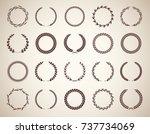 collection of twenty circular...