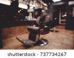 barbershop. blurred background... | Shutterstock . vector #737734267