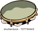 musical percussion instrument | Shutterstock .eps vector #737734465