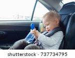cute little asian 18 months   1 ...   Shutterstock . vector #737734795