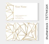 set of modern business cards... | Shutterstock .eps vector #737744164