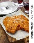 galician style homemade tuna...   Shutterstock . vector #737744731