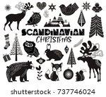 set of scandinavian objects for ... | Shutterstock .eps vector #737746024
