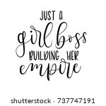 just a girl boss building her... | Shutterstock .eps vector #737747191