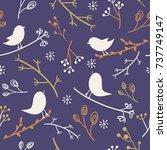 bird background  seamless...   Shutterstock .eps vector #737749147