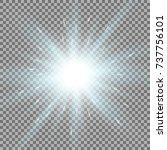 sunlight with lens flare effect ... | Shutterstock .eps vector #737756101