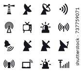 16 vector icon set   lighthouse ... | Shutterstock .eps vector #737759071