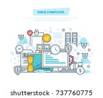 virus computer  protection ... | Shutterstock .eps vector #737760775